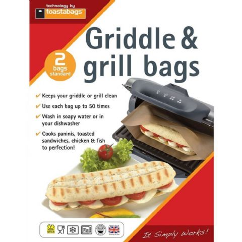 Pack 2 Toasted Panini Sandwich Griddle & Grill Bags